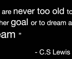 A picture of a quote by CS Lewis