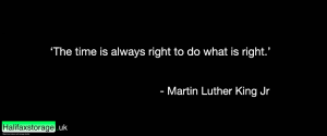This is a quote in text format by MLK Jr