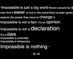 Picture of an Ali quote